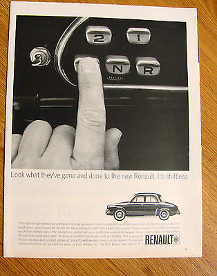 1963 Renault Dauphine Ad It's Shiftless