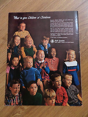 1964 Bell Telephone System Ad  Children at Christmas