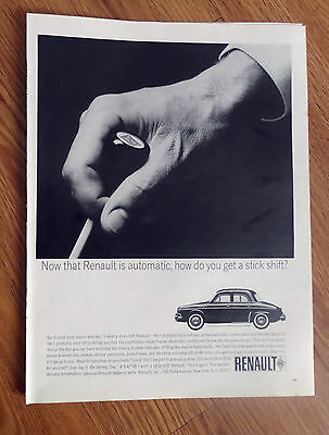 1964 Renault Dauphine Sedan Ad  Now that Renault is Automatic
