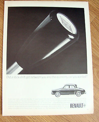 1964 Renault Ad  Did a Stick Shift get between You
