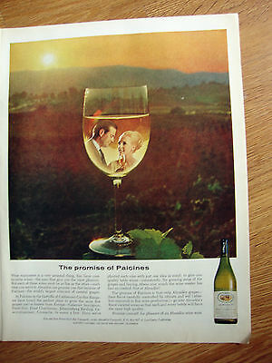 1965 Almaden Vineyards Wine Ad  The Promise of Paicines