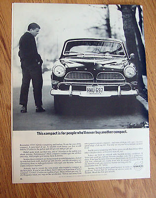 1964 Volvo Ad This Compact is for People who'll Never Buy Another Compact