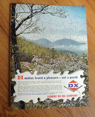 1965 DX Sunray Oil Ad  Makes Travel a pleasure not a Puzzle