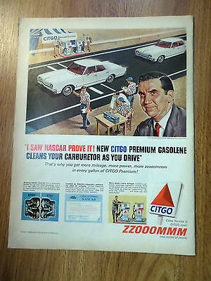 1965 Citgo Oil Gas Ad Ed McMahon at Bridgehampton Road Track