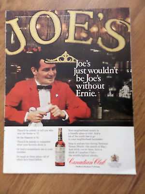 1966 Canadian Club Whiskey Ad Joe's without Ernie