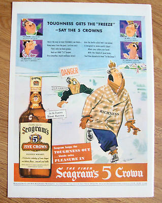 1943 Whisky Whiskey Ad    Seagram's 5 Crown