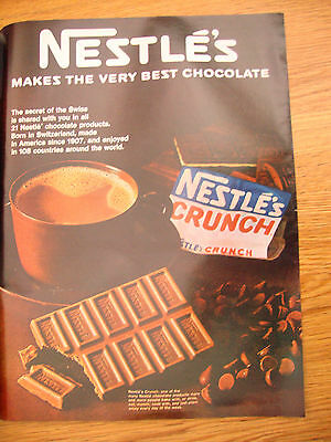 1967 Nestle's Chocolate Candy Bar Ad