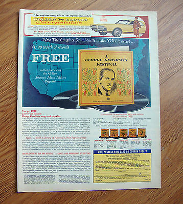 1967 Mercury Cougar Ad  Golden Cougar Sweepstakes A George Gershwin Festival