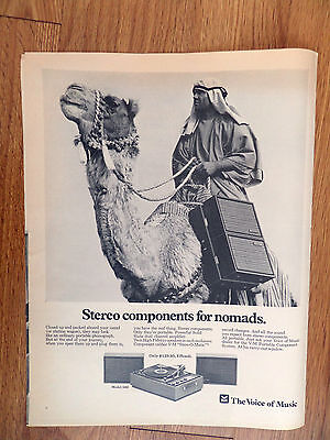 1968 The Voice of Music Ad  Stereo components for NOMADS V-M Portable Component