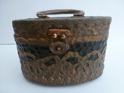 Vintage Walborg Copper Clad Lucite Box Purse For Parts or Restoration