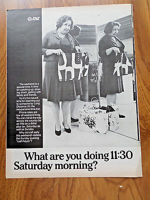 1969 AT & T Telephone Bell System Ad Saturday Morning?