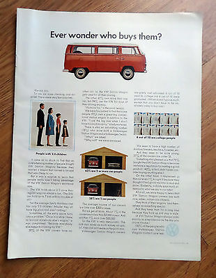 1969 VW Volkswagen Bus Ad Wver wonder who buys them?