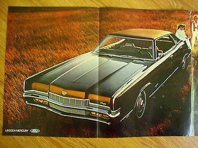 1970 Mercury Marquis Ad Most Dramatic Styling Since the Continental Mark III