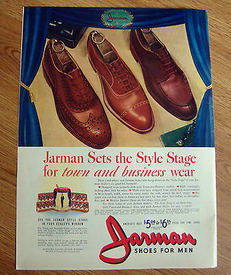 1941 Jarman Shoes Ad Sets the Style Stage for Town & Business Wear