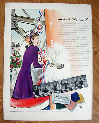 1941 Forstmann Woolen Ad Cruise Lines in the News