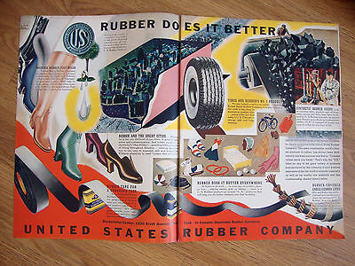 1940 United States Rubber Ad  Footwear Tires Great Cities