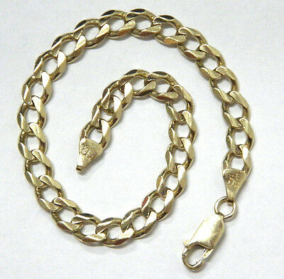 ITALY 9ct/375 YELLOW SOLID GOLD MENS BRACELET WIDTH 6.4mm 21cm LONG rrp $679.00