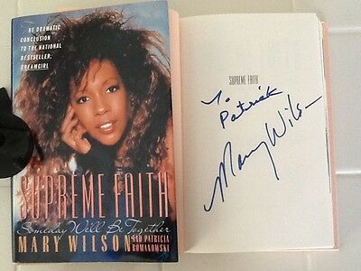 Mary Wilson Signed Autobiography Supremes 60s Girl Group Diana Ross Motown