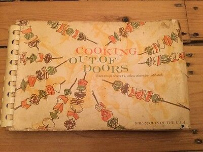 Girl Scout Cooking Out Of Doors Vintage 1960 Book Recipes Serve 12 Group Camping