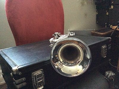 Excellent RARE French Besson MEHA made by Kanstul Bb Trumpet Silver With Case