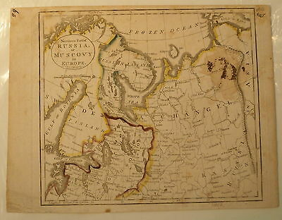 Map of the Northern Part of Russia in Europe by John Bower, 1813 original