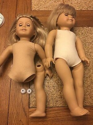 "2 American Girl - Kirsten 18"" Doll White Body Pleasant Company plus one REPAIR"