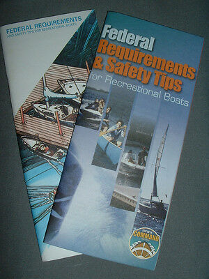 1992 & 2003 Two(2) Us Coast Guard Auxiliary Safety Manuals Brochures