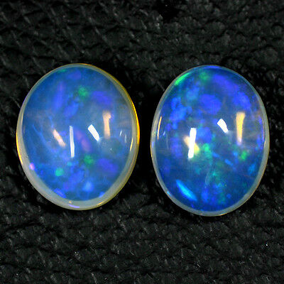 7.81 Cts Natural Top Ethiopian Opal Oval Cabochon Blue Fire Beautiful Gemstone $