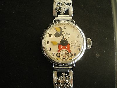 1st Ever Mickey Mouse Watch NR must see Very Rare. Lugs Mechanical Ingersoll