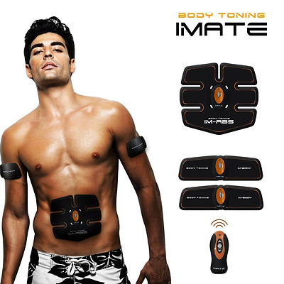 IMATE Abdominal Toning Belt, ABS Toner Body Muscle Trainer Waist Trimmer for Men