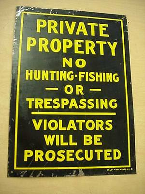 Private Property No Hunting Fishing Trespassing Violators Will Prosecuted Sign
