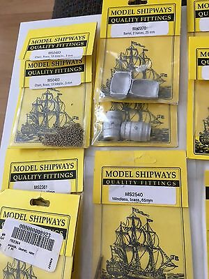 Model Shipways Quality Fittings and Miscellaneous Ship parts 25 packs