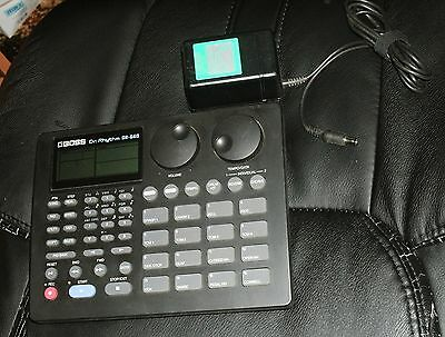 1990s Boss Dr. Rhythm DR-660 with BRA-120 power supply & new CR2032 battery