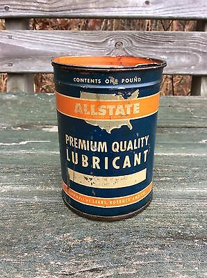 ALLSTATE One Pound Grease Can - Sears Roebuck - Gas & Oil