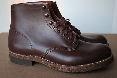 VTG Thorogood 1940s Work Boots Shoes 8 E Union Made USA Brown Leather