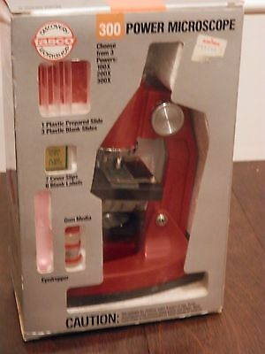 Tasco 1990 300 Power Microscope W/ Discovery Kit Variable 100X 200X 300X In Box