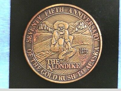 1973 Rare Commemorative Coin 75th Anniversary of the Gold Rush to Alaska #4662