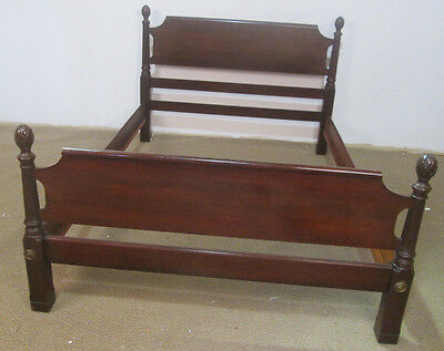 57097 Solid Mahogany Georgetown Galleries Full Size 4 Low Post Bed w/ Rails