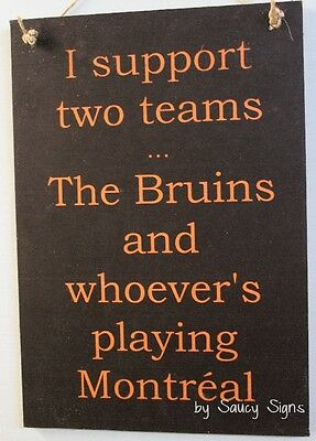 Boston v Montreal Hockey Sign - The Bruins versus The Habs  NHL Team Rivalry