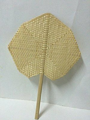 Thai handmade manual fan for relax of hot weather Hand Fans Vintage Accessories