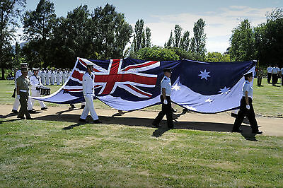 Extra Heavy Duty Outdoor Australian Flag , Aust Defence Force Quality Free Clips