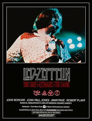 "Led Zeppelin ""The Song Remains The Same"" Movie Stand-Up Display John Paul Jones"