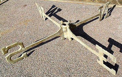 Solid Brass Weathervane Directional Compass Vintage   N S E W  23 inches wide