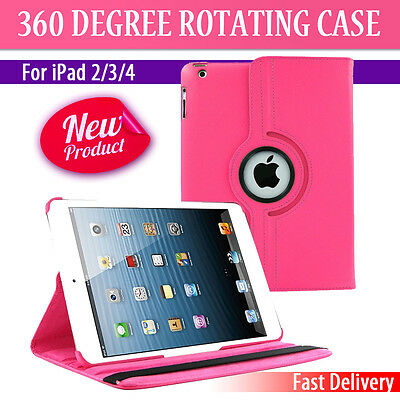 Leather 360 Degree Rotating Smart Case Cover For APPLE iPad 2 3 4  (P037