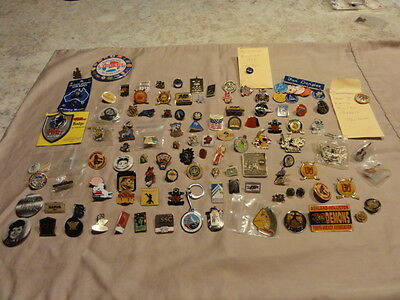 Lapel Pins , Pinback  Lot of 106,Military ,Sports,Olympics,Advertising,WW1 ECT.