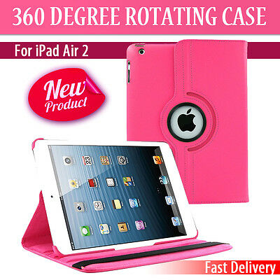 Leather 360 Degree Rotating Smart Stand Case Cover For APPLE iPad Air 2 6 (P037