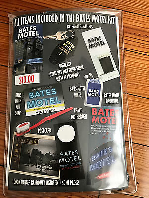 A&E Bates Motel - Motel Amenities Pack - Keychain, Matches, Toothbrush, Postcard
