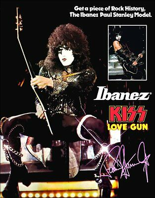 KISS Paul Stanley Ibanez PS10 ALIVE II Era Reproduction Stand Display