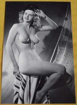 Classic Blonde Pinup 4x6 Photo Vintage Nude Print Busty B47
