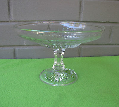 Glass Comport - 1940's